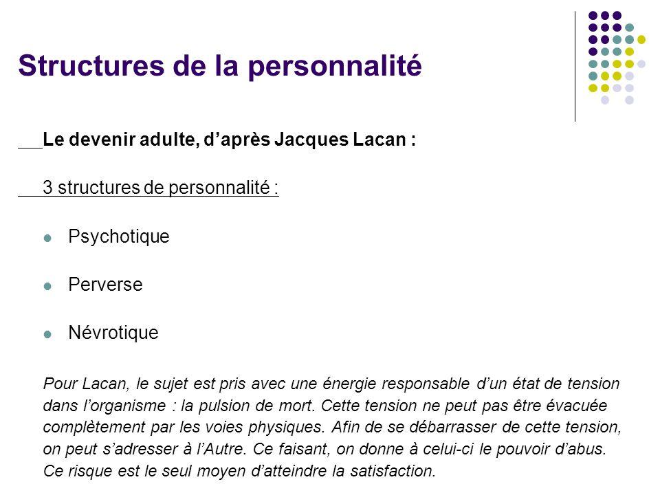 Structures de la personnalité