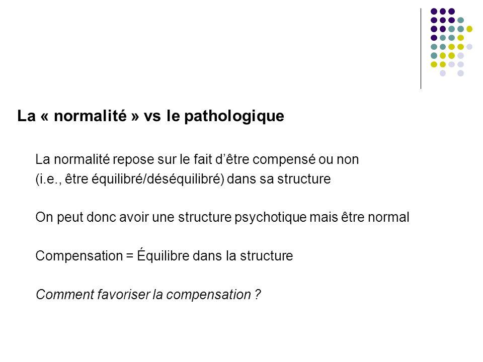 La « normalité » vs le pathologique