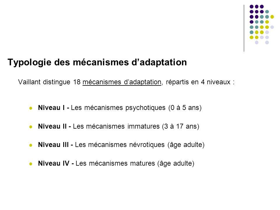 Typologie des mécanismes d'adaptation