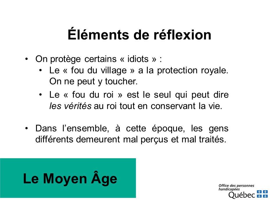 Éléments de réflexion Le Moyen Âge