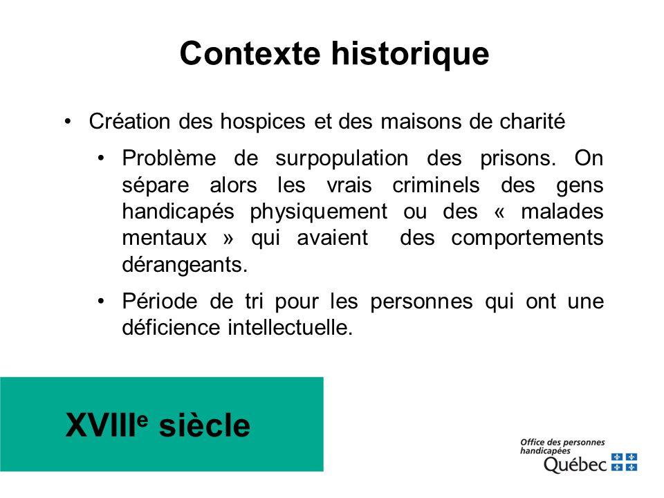Contexte historique XVIIIe siècle