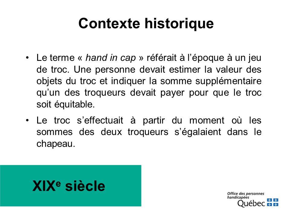 Contexte historique XIXe siècle