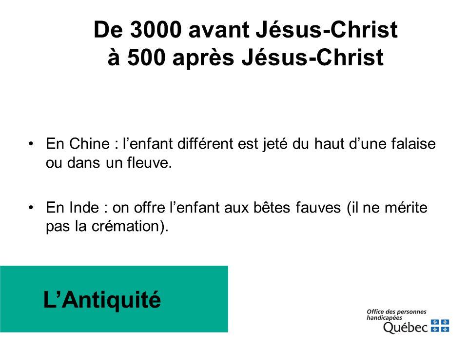 De 3000 avant Jésus-Christ à 500 après Jésus-Christ