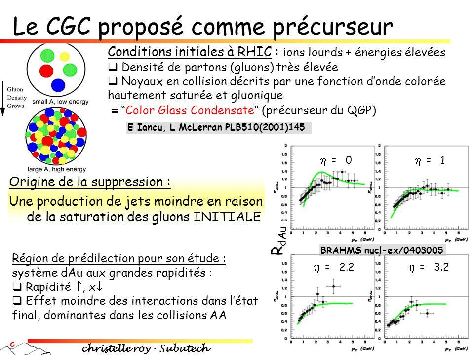 Le CGC proposé comme précurseur