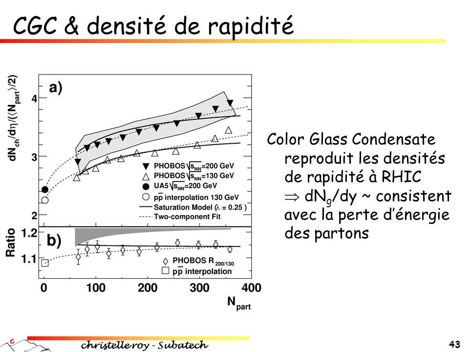 CGC & densité de rapidité
