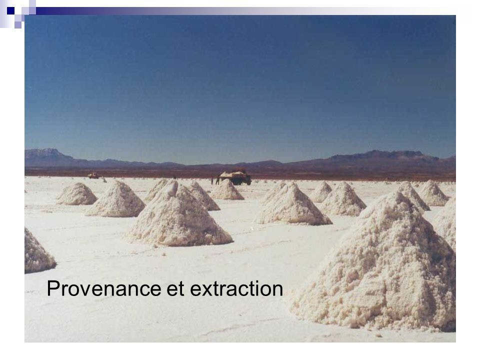 Provenance et extraction