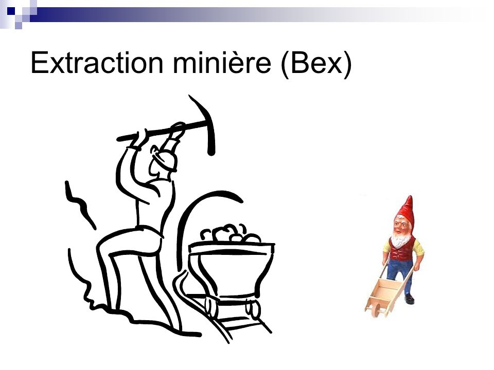 Extraction minière (Bex)