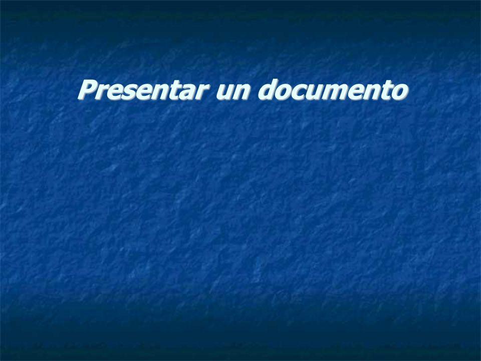 Presentar un documento
