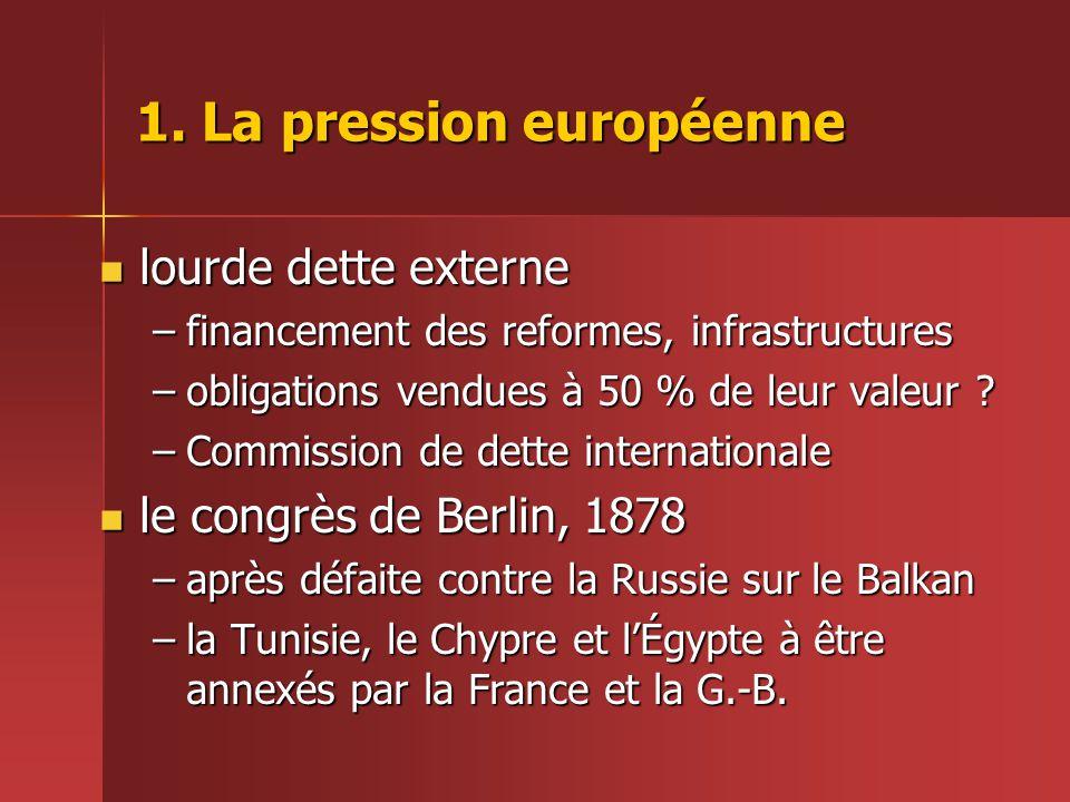 1. La pression européenne