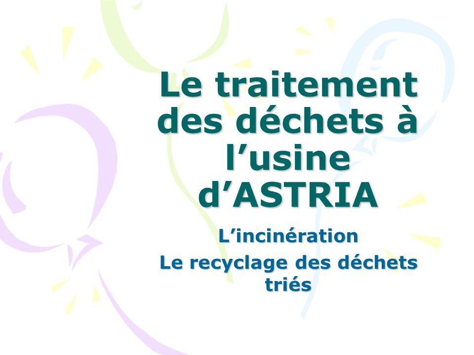 Le traitement des déchets à l'usine d'ASTRIA