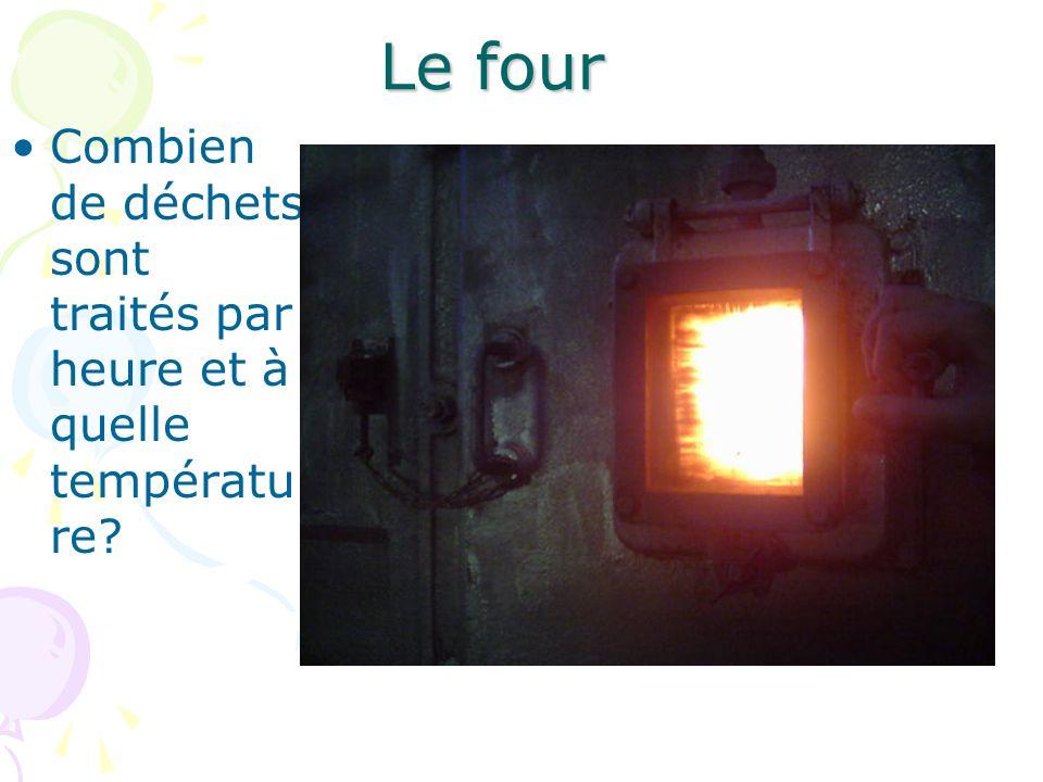 Le four Combien de déchets sont traités par heure et à quelle température