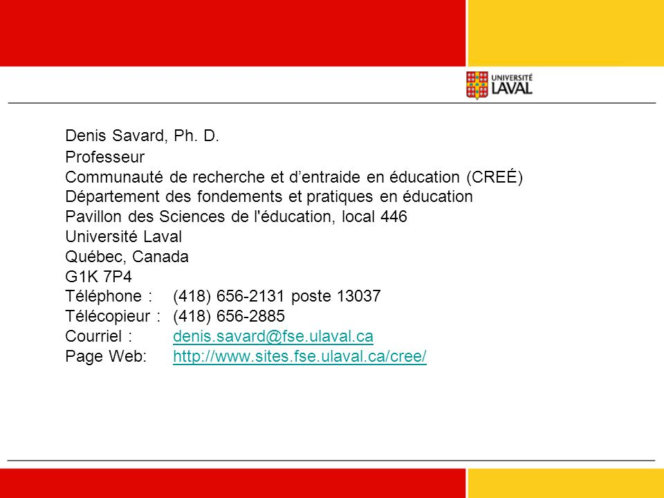 Denis Savard, Ph. D.