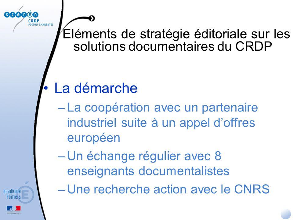 Eléments de stratégie éditoriale sur les solutions documentaires du CRDP