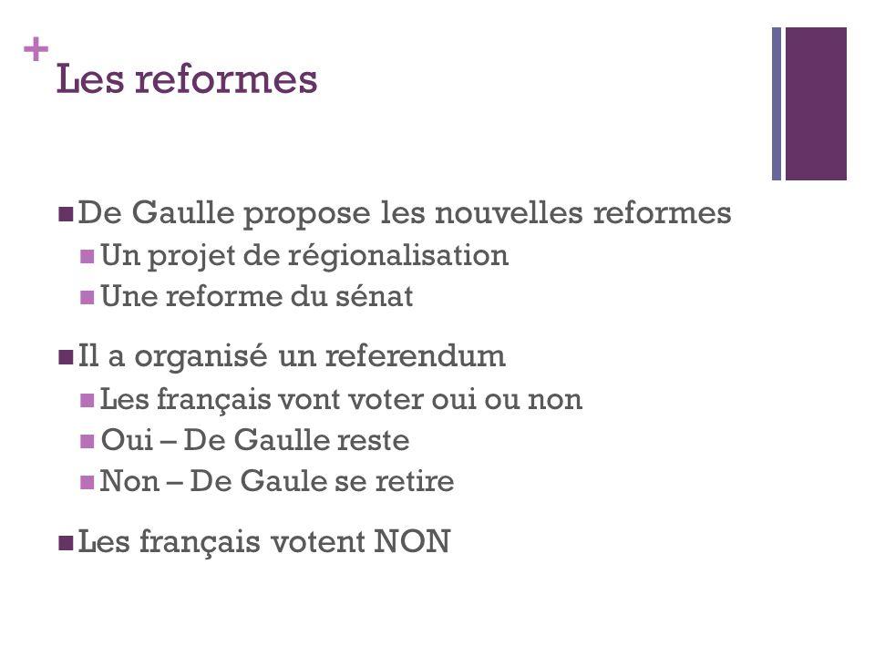 Les reformes De Gaulle propose les nouvelles reformes