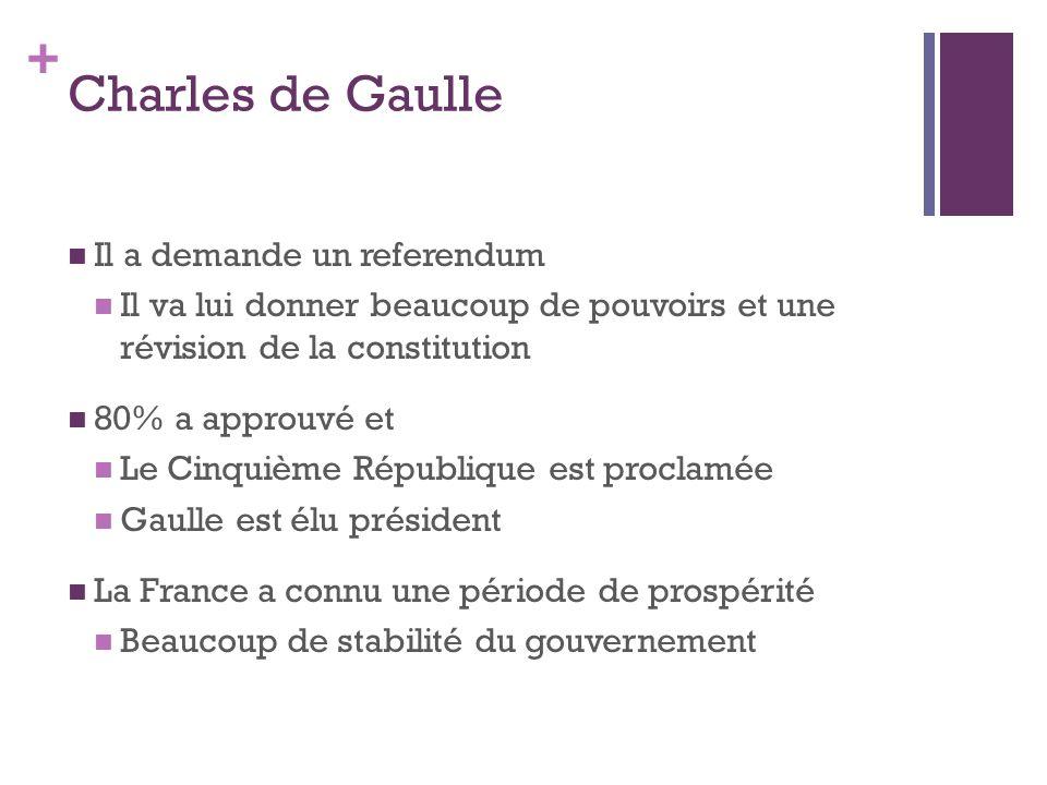 Charles de Gaulle Il a demande un referendum