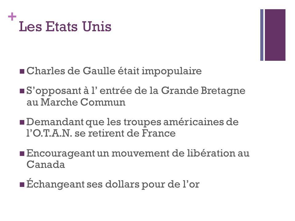 Les Etats Unis Charles de Gaulle était impopulaire