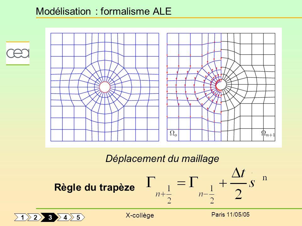 Modélisation : formalisme ALE