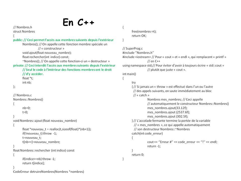 02/04/2017 En C++ Vice-rectorat à la recherche / octobre 2005