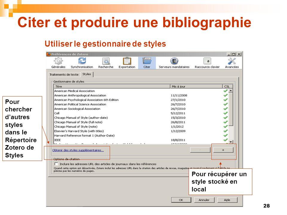 Citer et produire une bibliographie