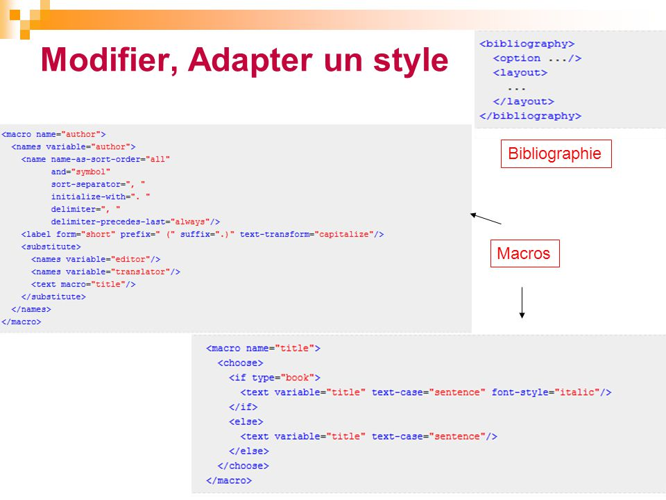 Modifier, Adapter un style