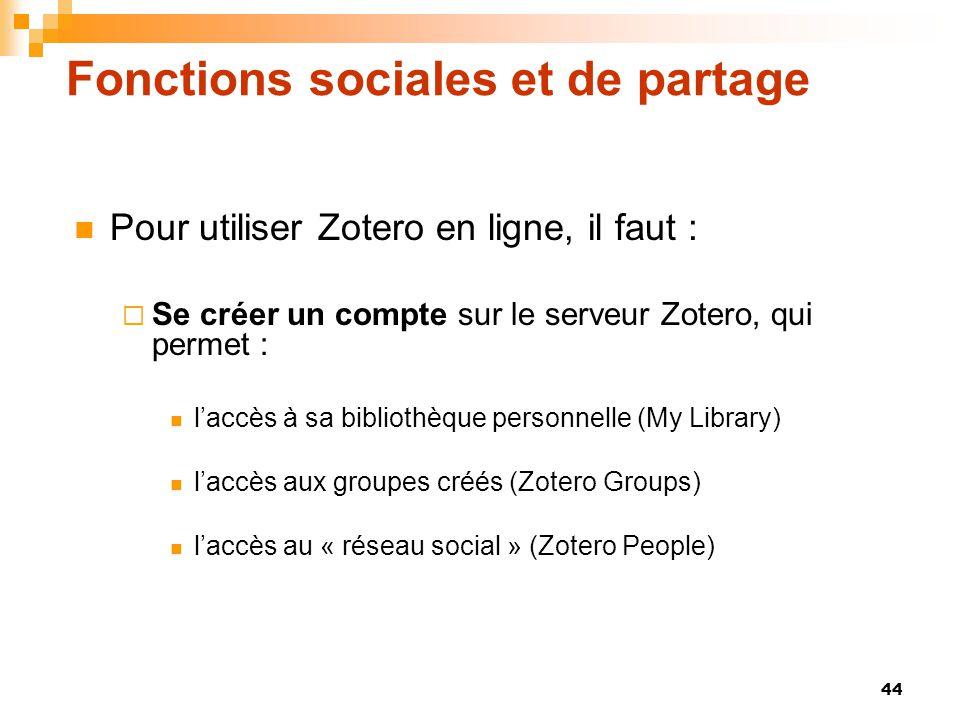 Fonctions sociales et de partage