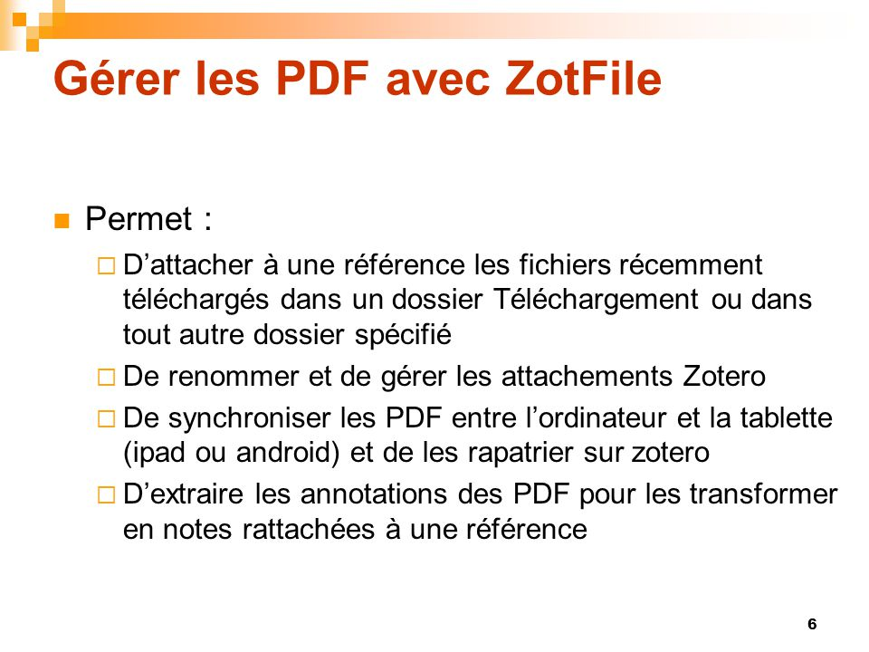 Gérer les PDF avec ZotFile