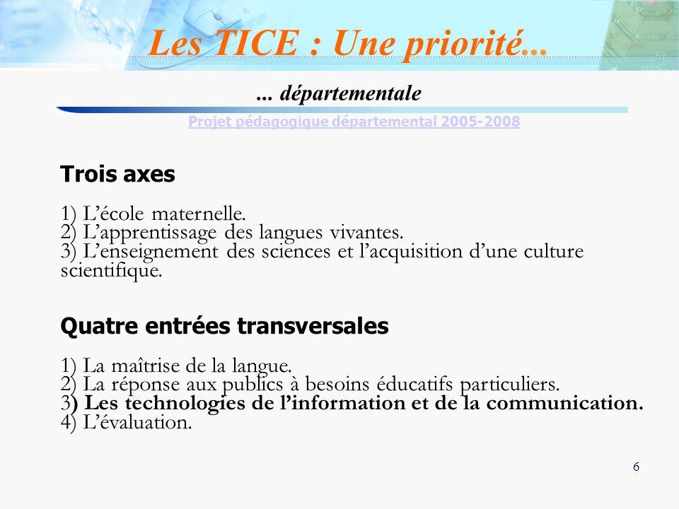 Projet pédagogique départemental 2005-2008