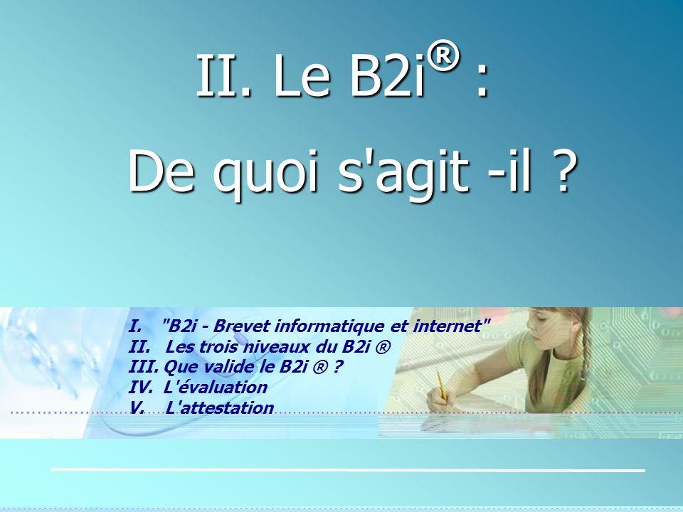 II. Le B2i® : De quoi s agit -il