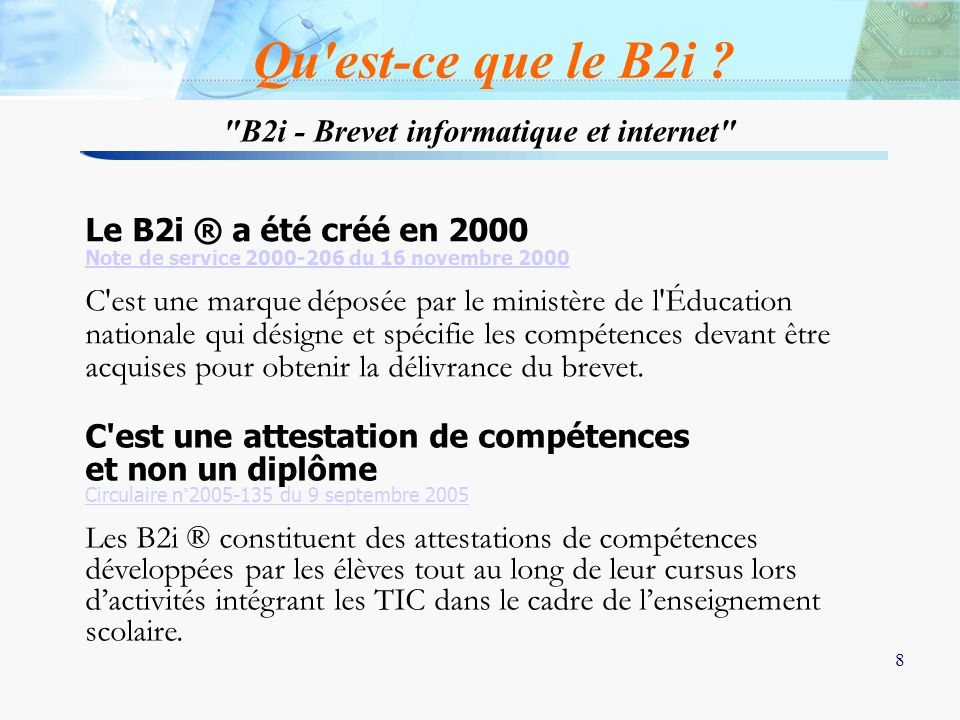B2i - Brevet informatique et internet