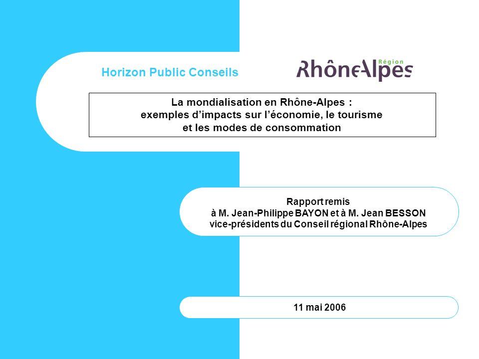Horizon Public Conseils La mondialisation en Rhône-Alpes :