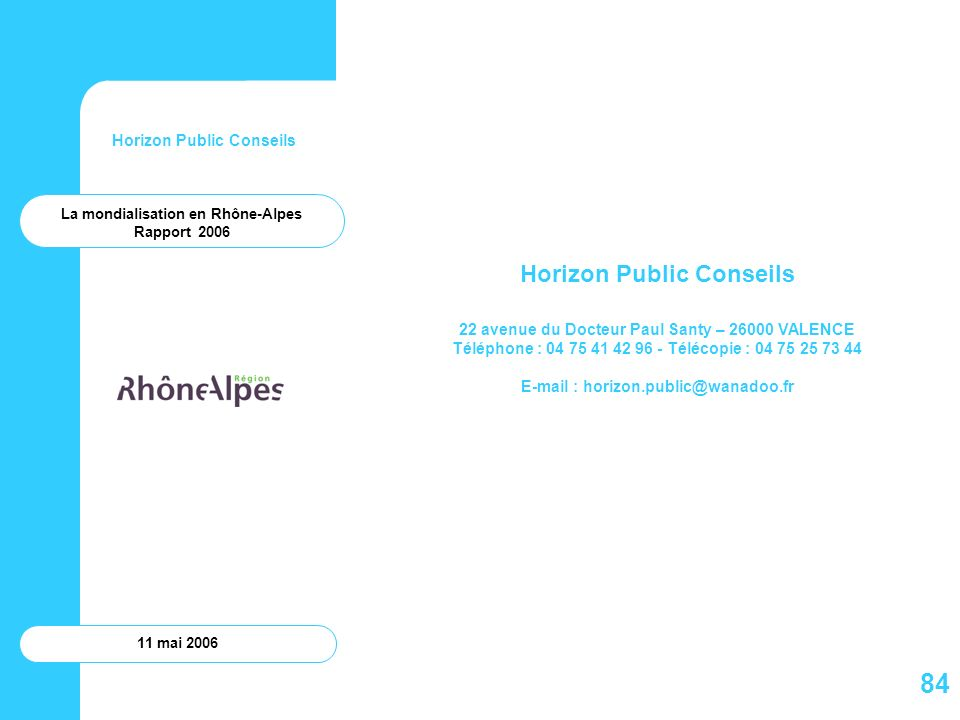 84 Horizon Public Conseils Horizon Public Conseils