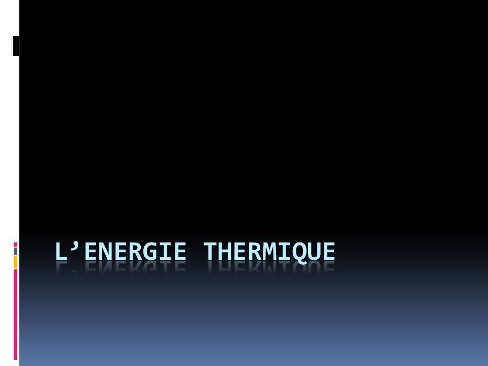 L'energie Thermique