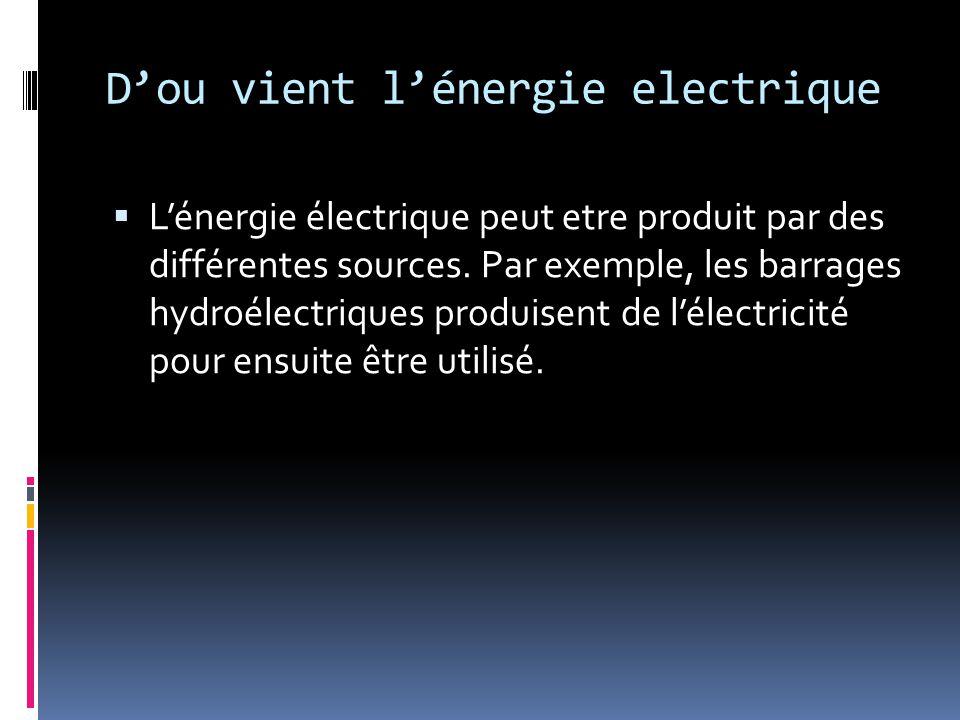 D'ou vient l'énergie electrique