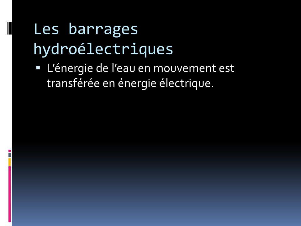 Les barrages hydroélectriques