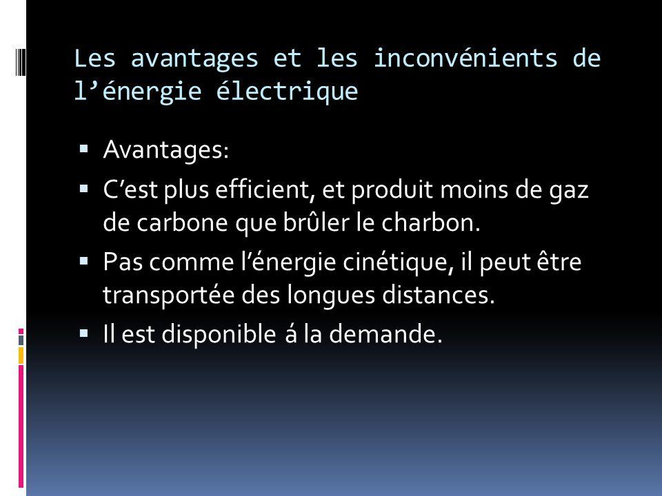 Les avantages et les inconvénients de l'énergie électrique