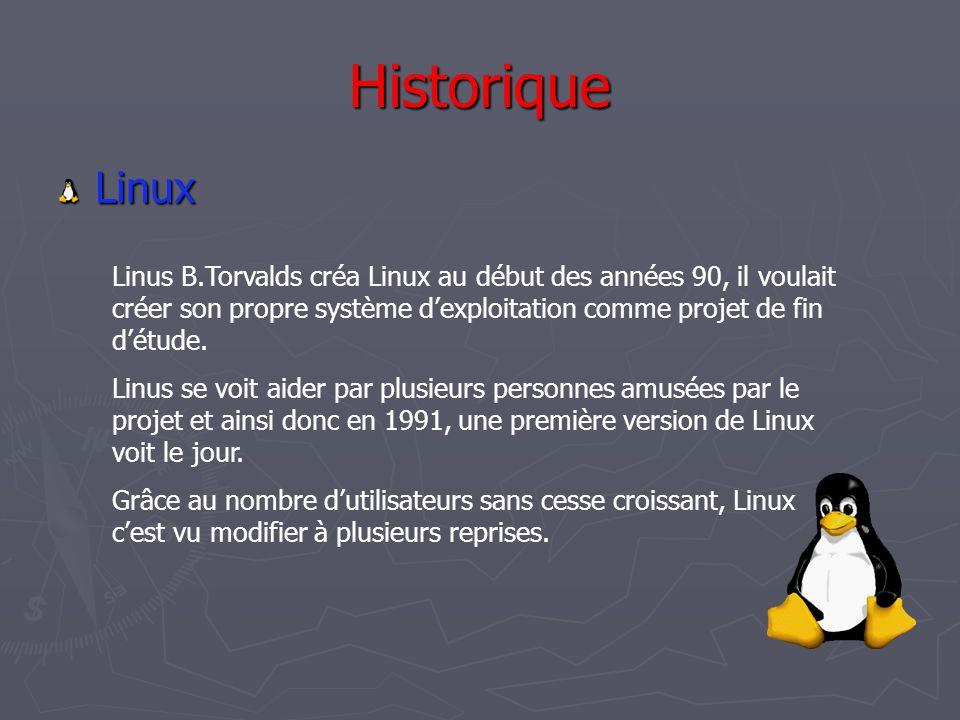 Historique Linux.
