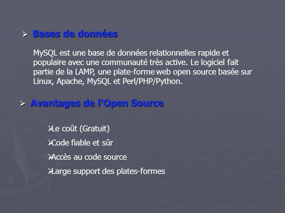 Avantages de l Open Source