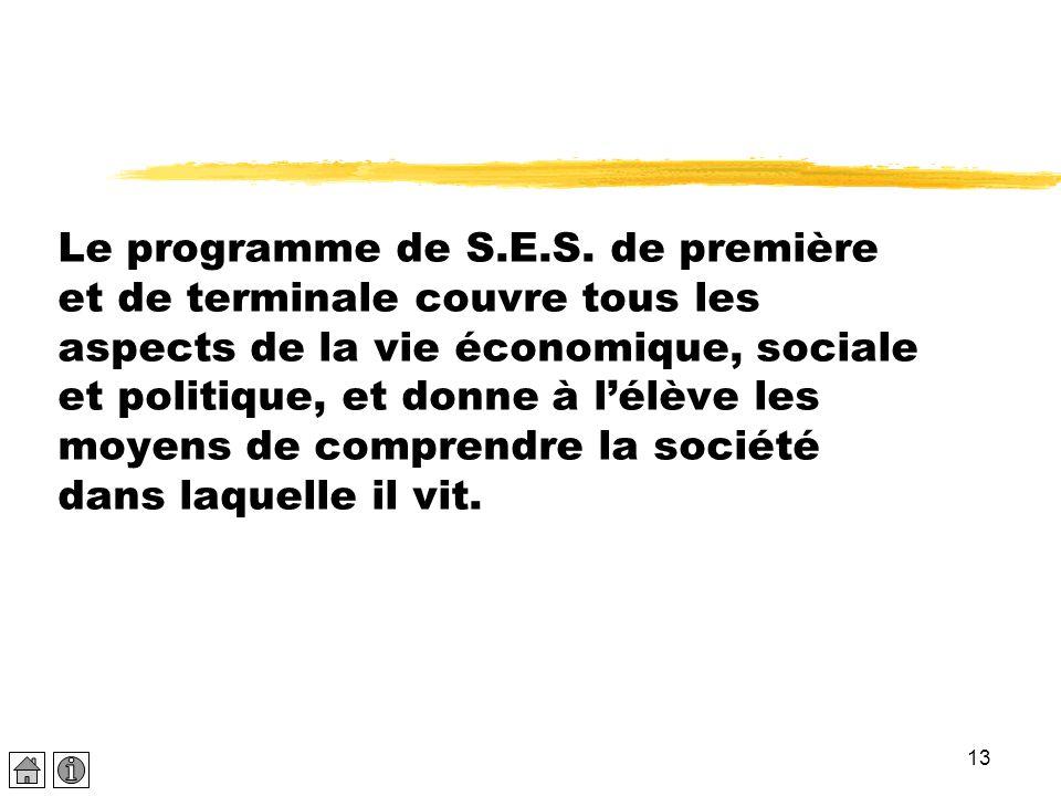 Le programme de S.E.S.