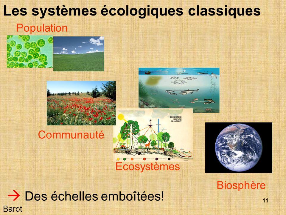 Les systèmes écologiques classiques