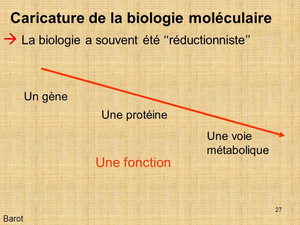 Caricature de la biologie moléculaire