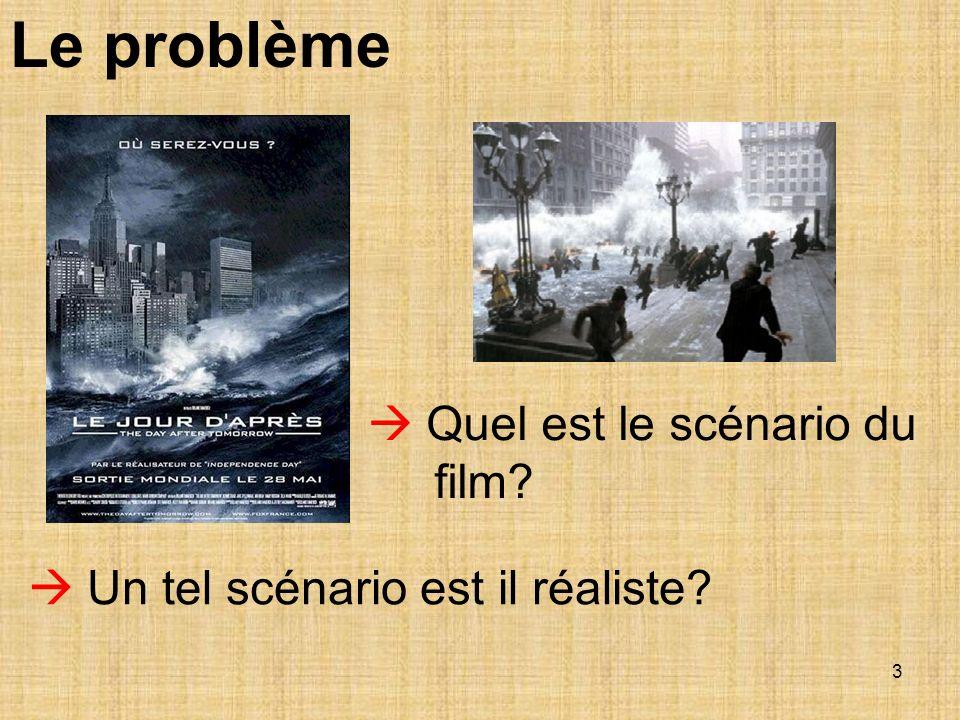 Le problème  Quel est le scénario du film