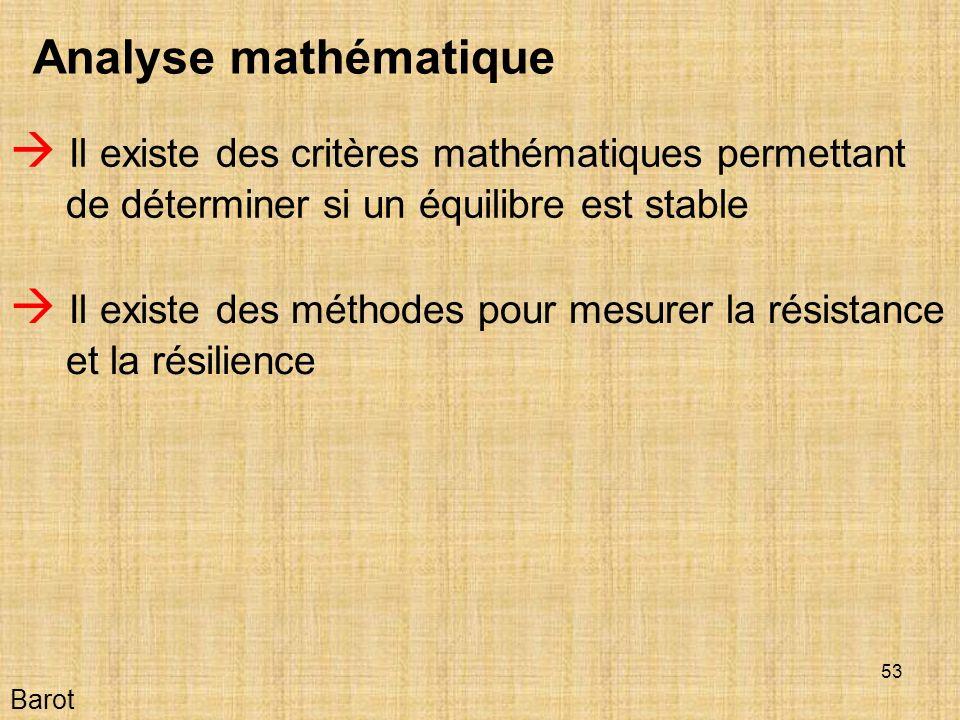  Il existe des méthodes pour mesurer la résistance et la résilience