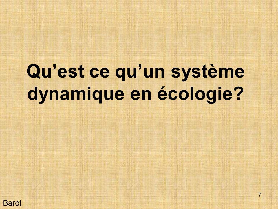 Qu'est ce qu'un système dynamique en écologie