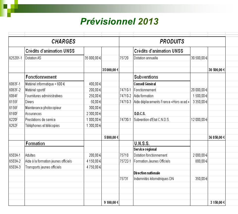 Prévisionnel 2013