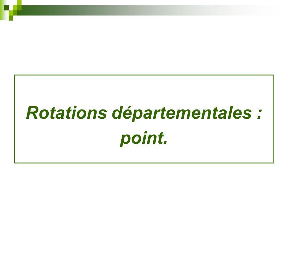 Rotations départementales :