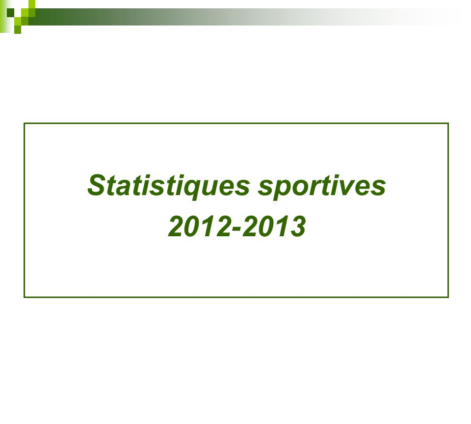 Statistiques sportives