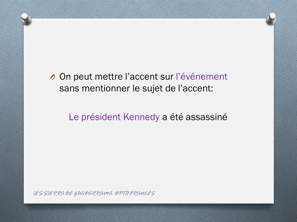 Le président Kennedy a été assassiné
