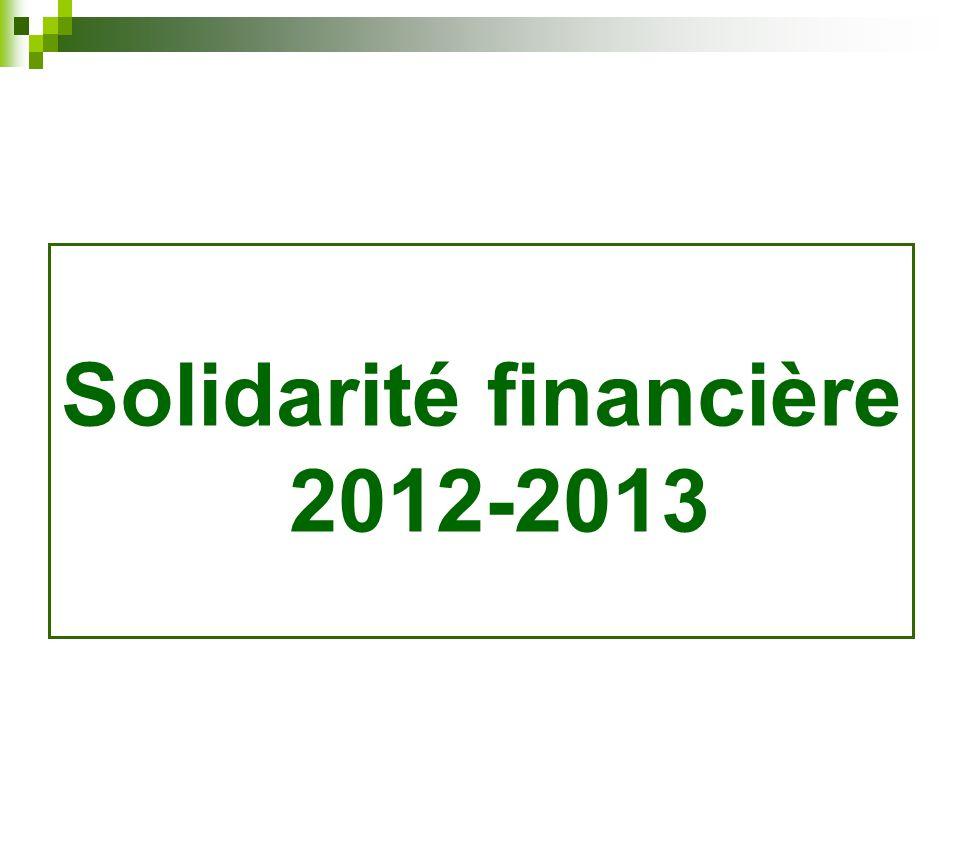 Solidarité financière 2012-2013