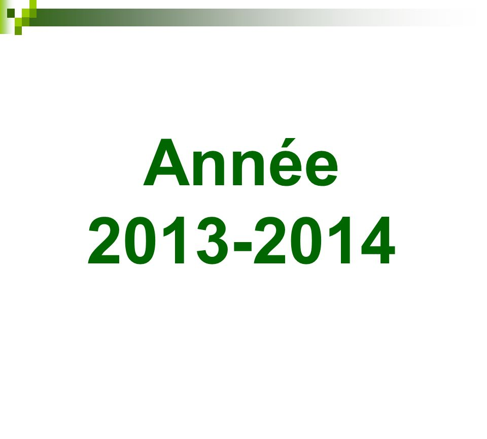 Année 2013-2014