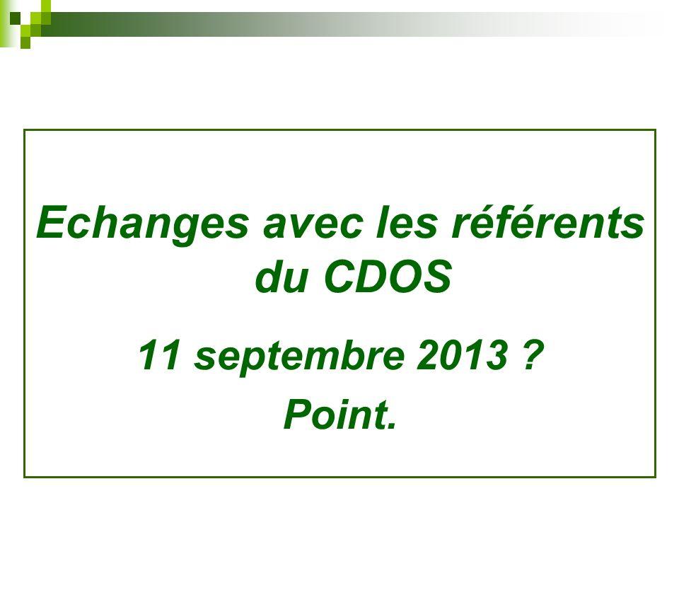 Echanges avec les référents du CDOS